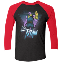 T-Shirts Vintage Black/Vintage Red / X-Small Mad Titan Men's Triblend 3/4 Sleeve