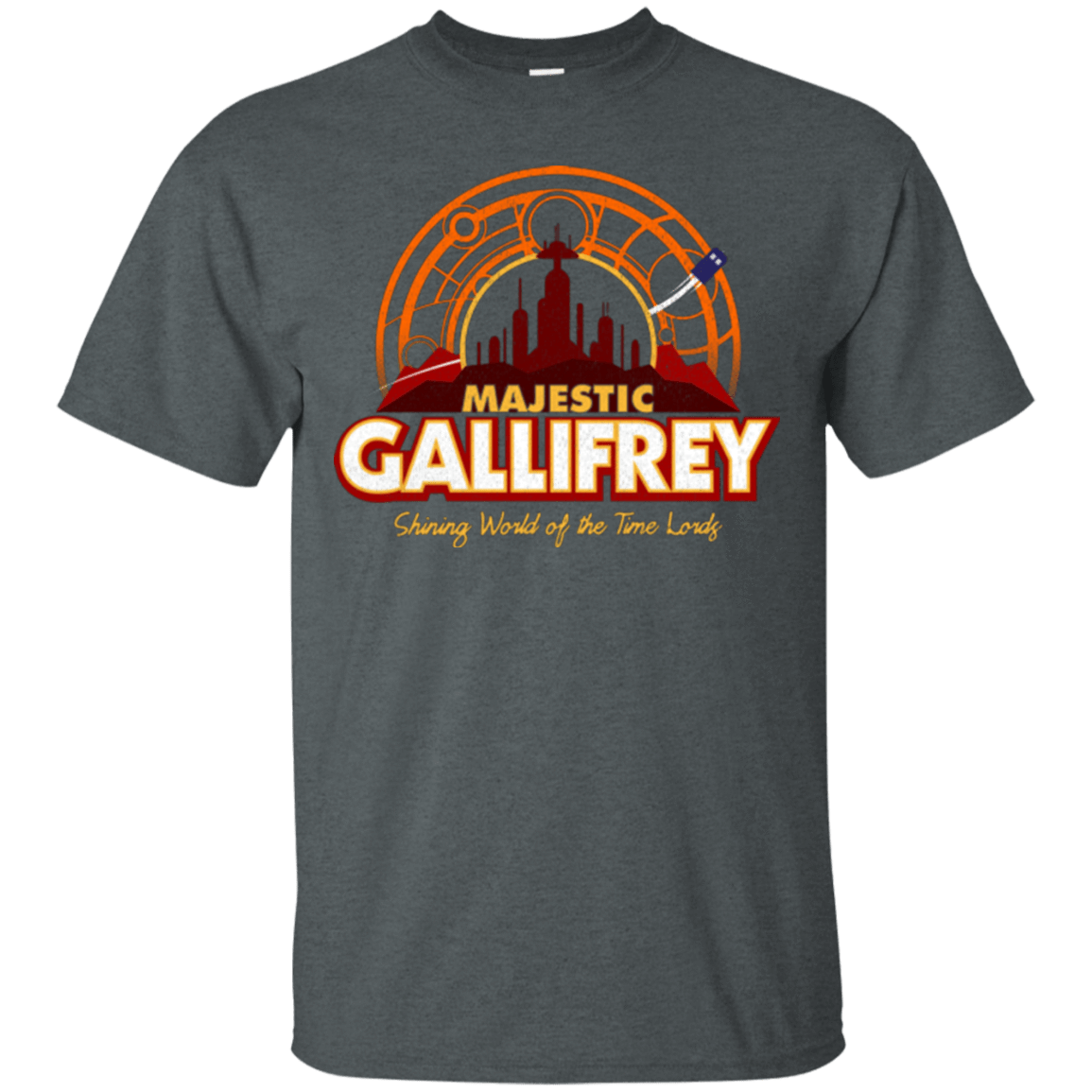 T-Shirts Dark Heather / Small Majestic Gallifrey T-Shirt