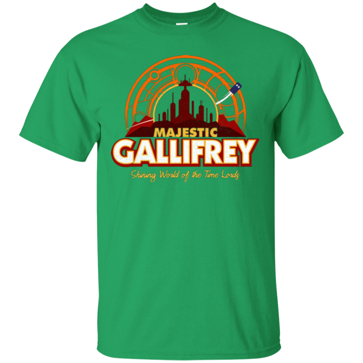 T-Shirts Irish Green / Small Majestic Gallifrey T-Shirt