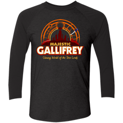T-Shirts Vintage Black/Vintage Black / X-Small Majestic Gallifrey Triblend 3/4 Sleeve