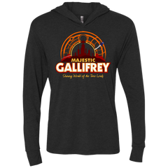 T-Shirts Vintage Black / X-Small Majestic Gallifrey Triblend Long Sleeve Hoodie Tee