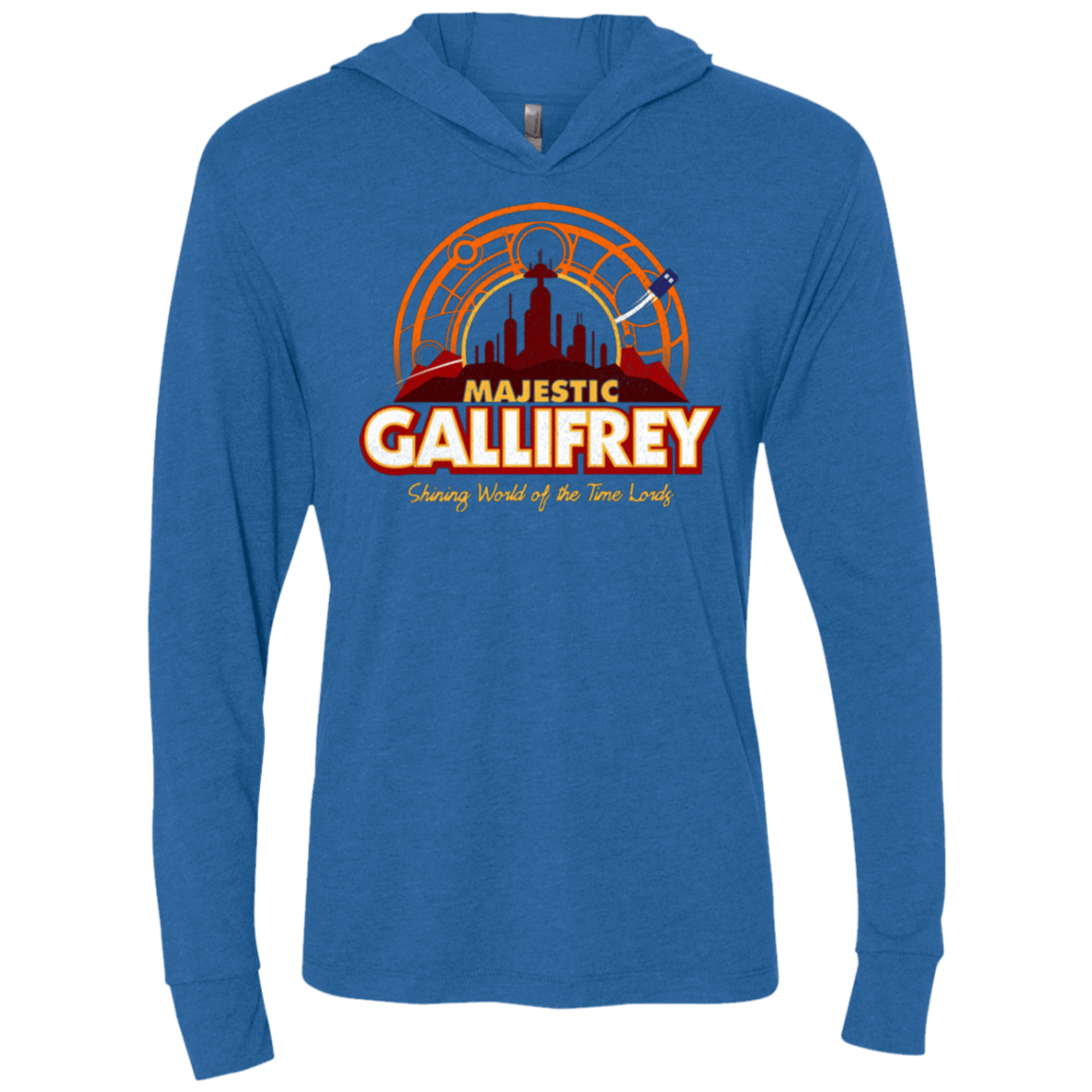 T-Shirts Vintage Royal / X-Small Majestic Gallifrey Triblend Long Sleeve Hoodie Tee