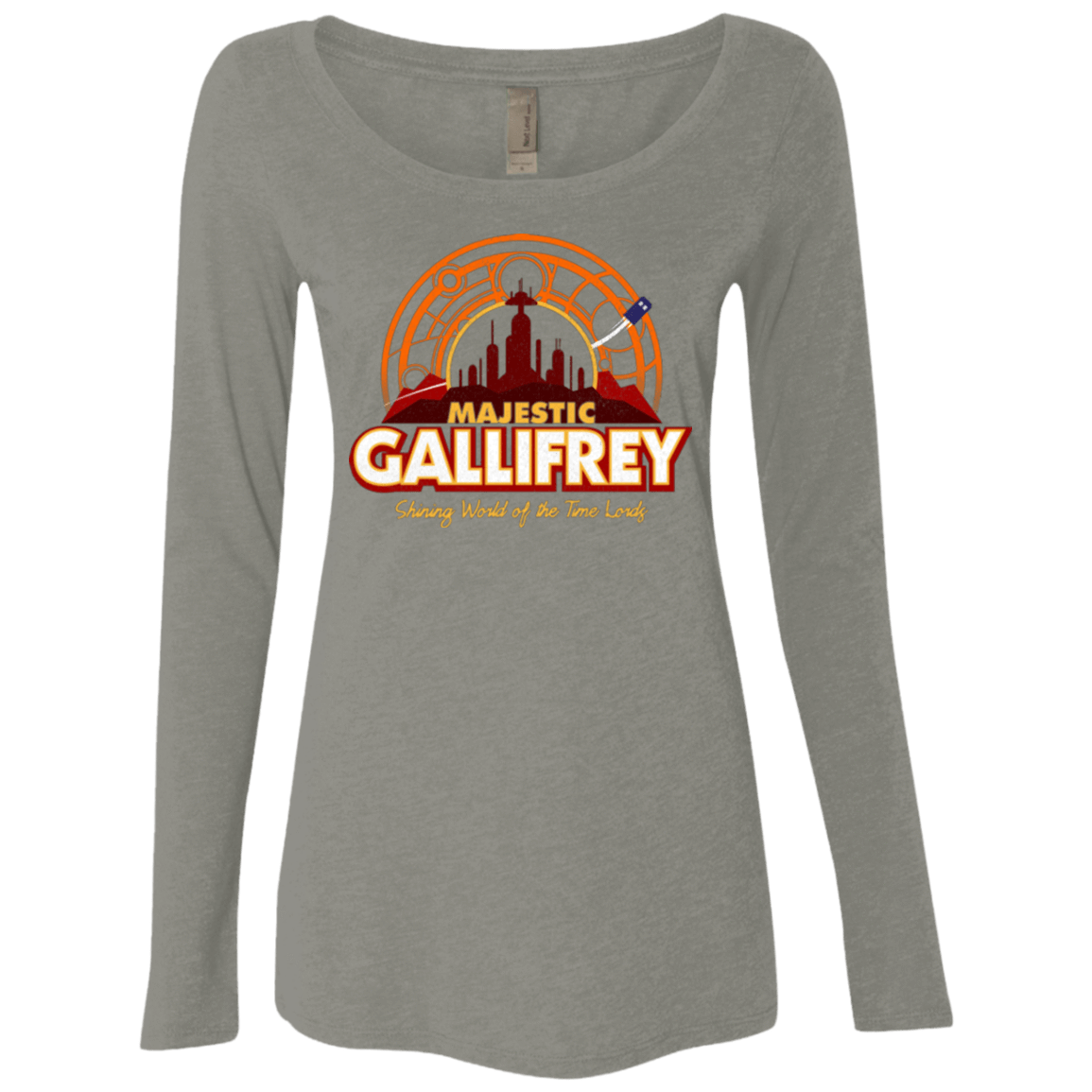 Majestic Gallifrey Women's Triblend Long Sleeve Shirt