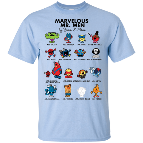 T-Shirts Light Blue / S Marvelous Mr Men T-Shirt