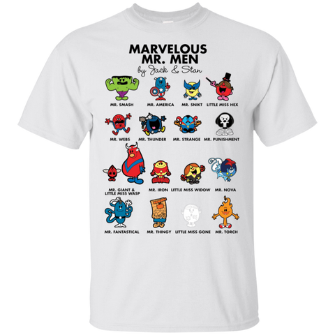 T-Shirts White / S Marvelous Mr Men T-Shirt