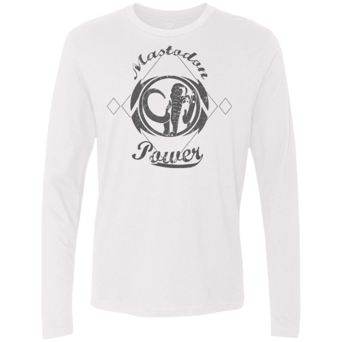 T-Shirts White / Small Mastodon Men's Premium Long Sleeve