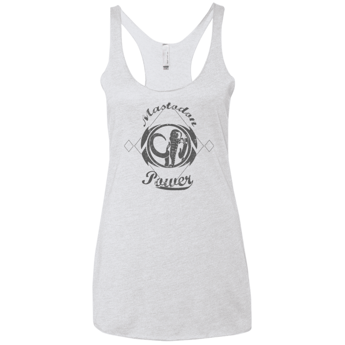 T-Shirts Heather White / X-Small Mastodon Women's Triblend Racerback Tank