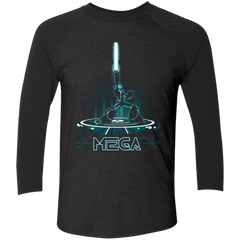 MEGA Men's Triblend 3/4 Sleeve