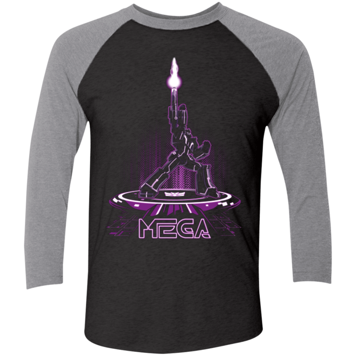 MEGA (Tron) Men's Triblend 3/4 Sleeve