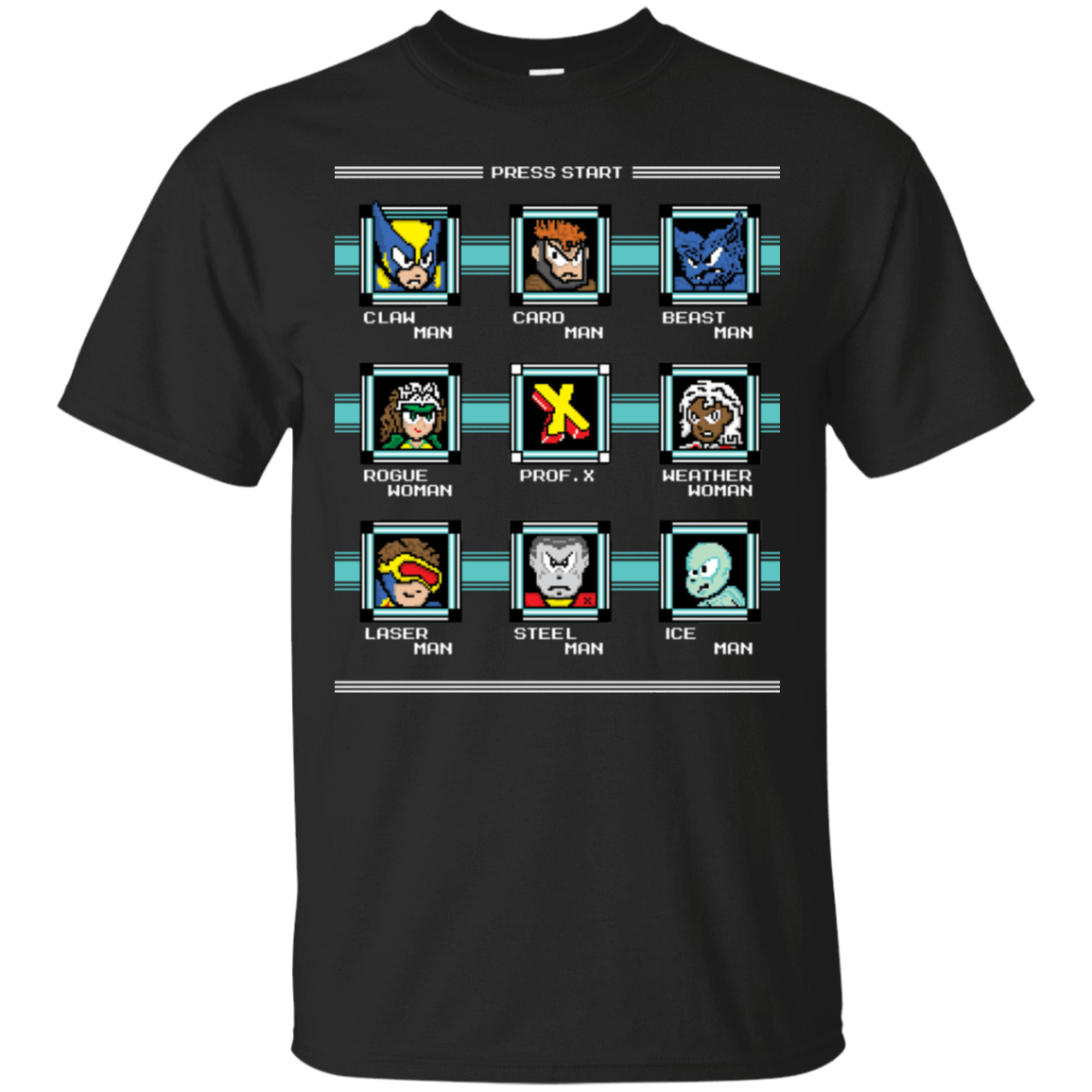 T-Shirts Black / S Mega X-Man T-Shirt