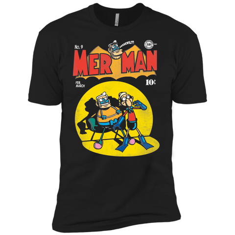 T-Shirts Black / X-Small Mer Man Comic Men's Premium T-Shirt