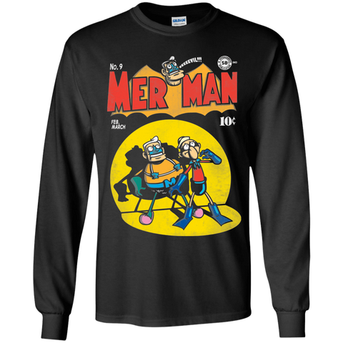 Mer Man Comic Youth Long Sleeve T-Shirt