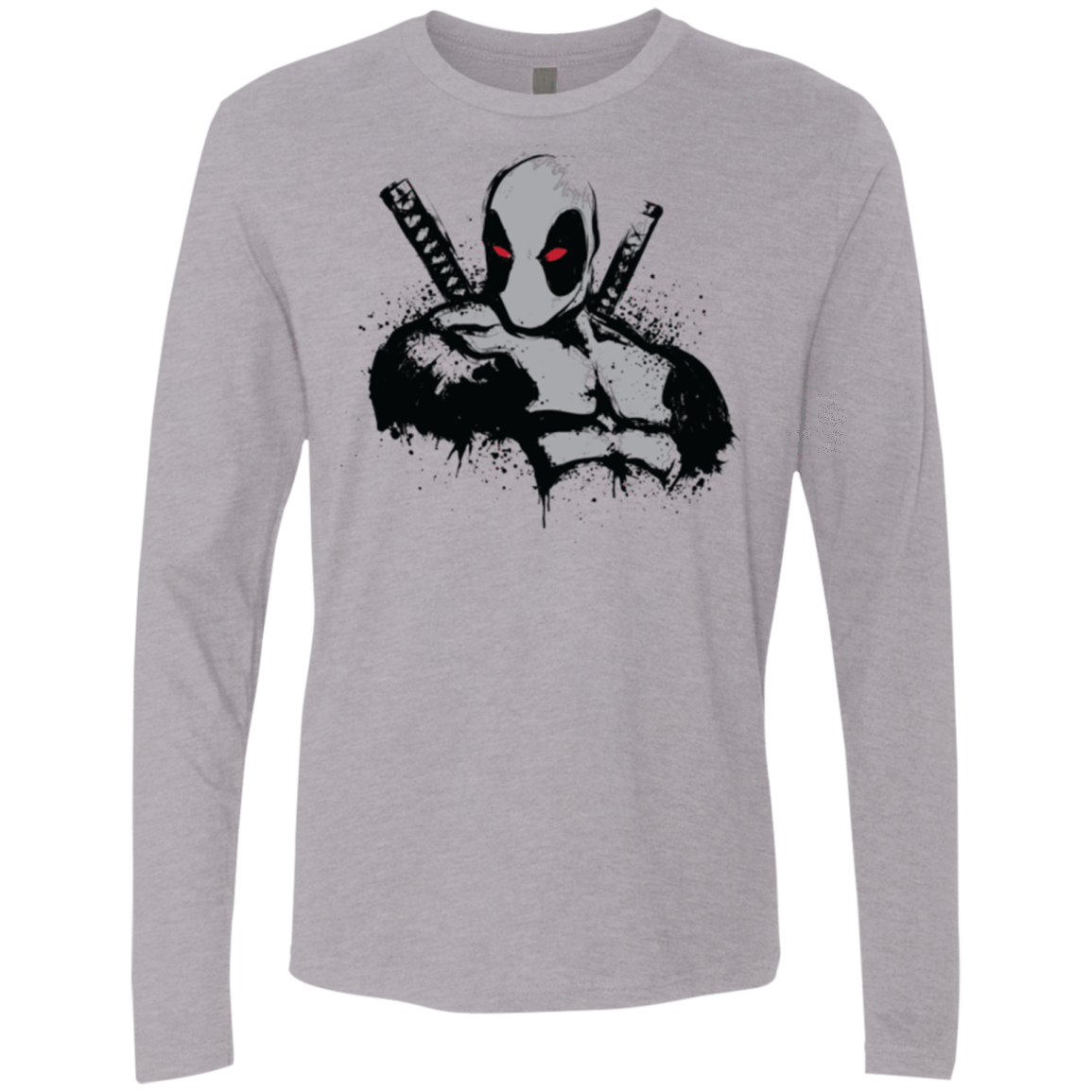 T-Shirts Heather Grey / Small Merc in Grey X Force Men's Premium Long Sleeve