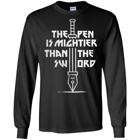 T-Shirts Black / S Mighty Pen Men's Long Sleeve T-Shirt