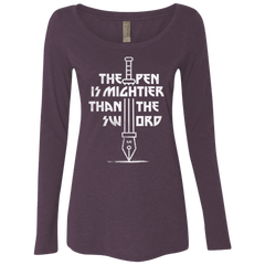 Mighty Pen Women's Triblend Long Sleeve Shirt
