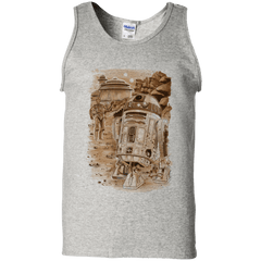 T-Shirts Ash / S Mission to jabba palace Men's Tank Top