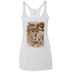 T-Shirts Heather White / X-Small Mission to jabba palace Women's Triblend Racerback Tank