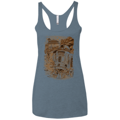 T-Shirts Indigo / X-Small Mission to jabba palace Women's Triblend Racerback Tank