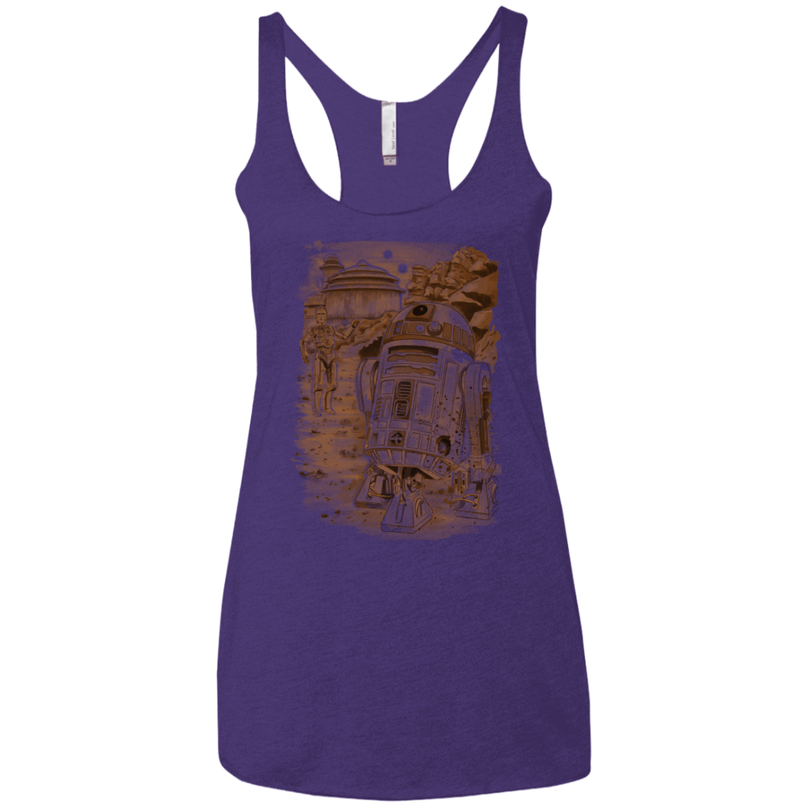 T-Shirts Purple Rush / X-Small Mission to jabba palace Women's Triblend Racerback Tank