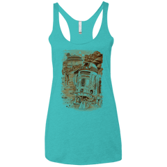 T-Shirts Tahiti Blue / X-Small Mission to jabba palace Women's Triblend Racerback Tank