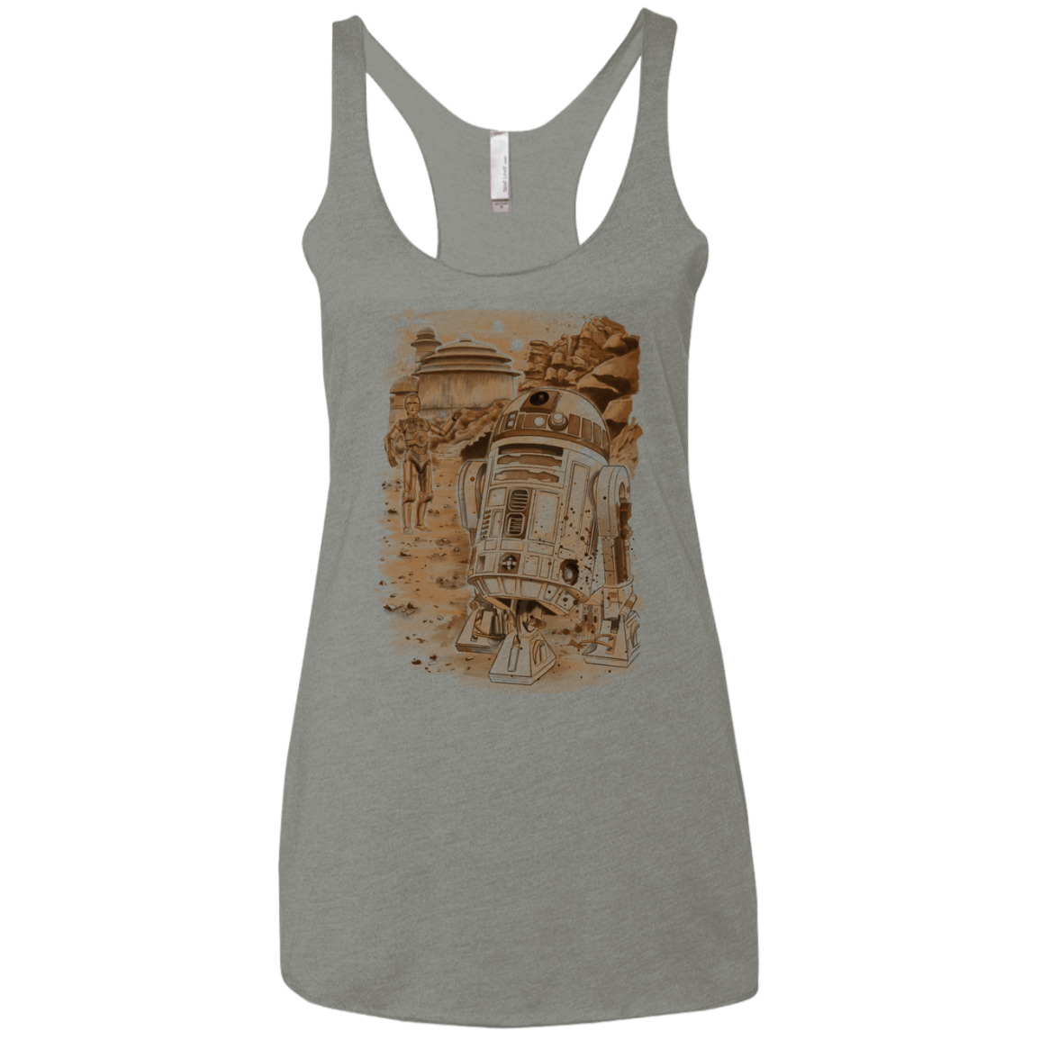 T-Shirts Venetian Grey / X-Small Mission to jabba palace Women's Triblend Racerback Tank