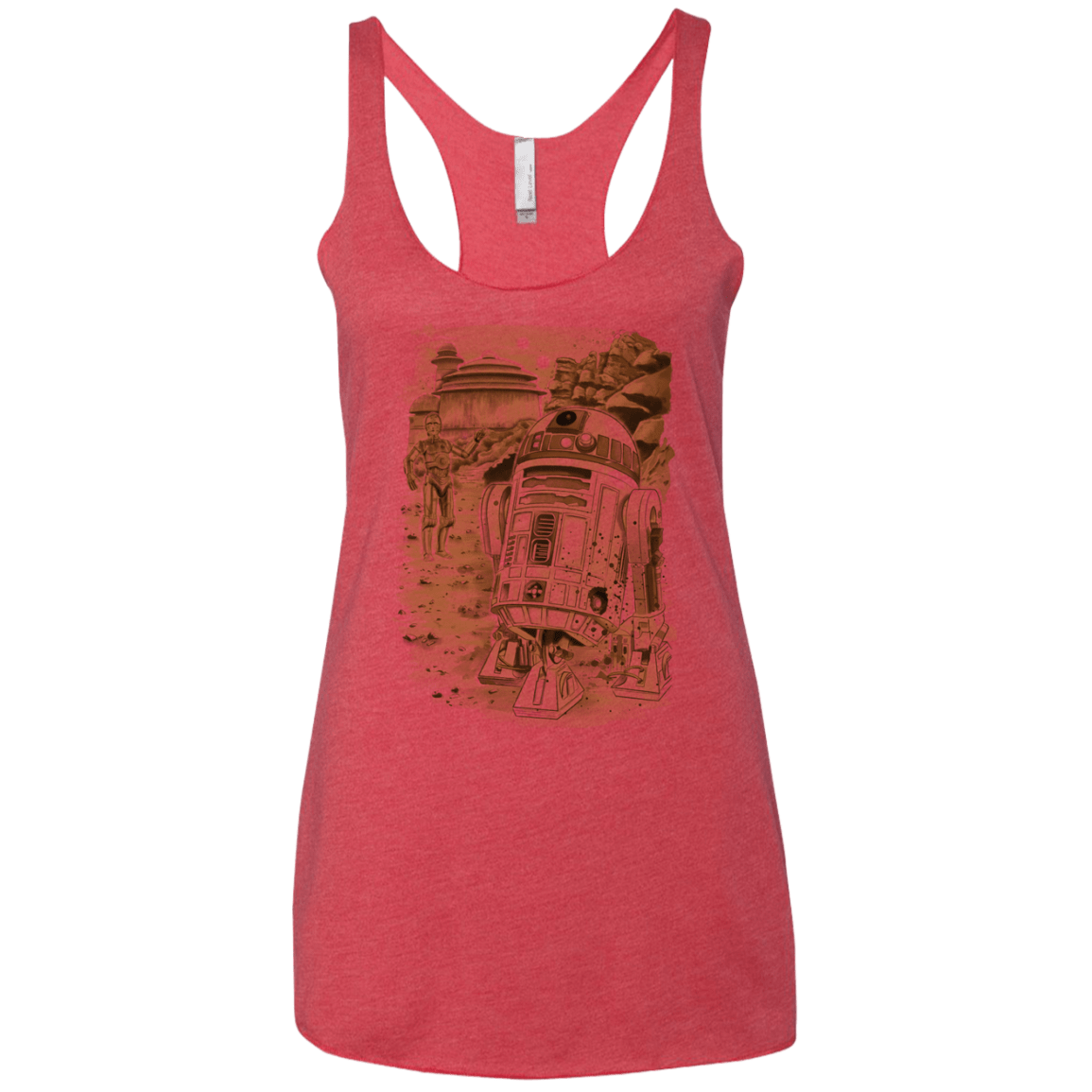 T-Shirts Vintage Red / X-Small Mission to jabba palace Women's Triblend Racerback Tank