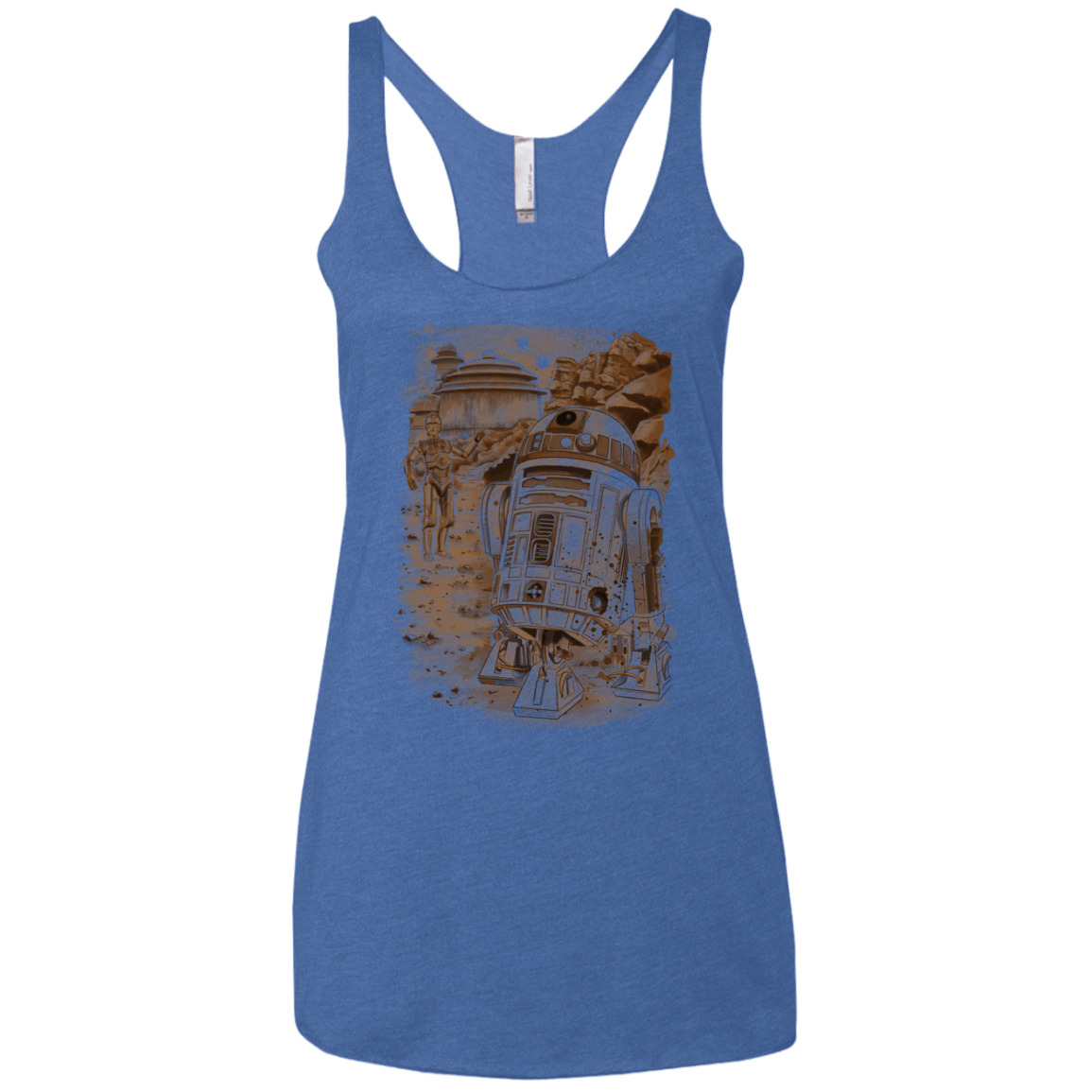 T-Shirts Vintage Royal / X-Small Mission to jabba palace Women's Triblend Racerback Tank