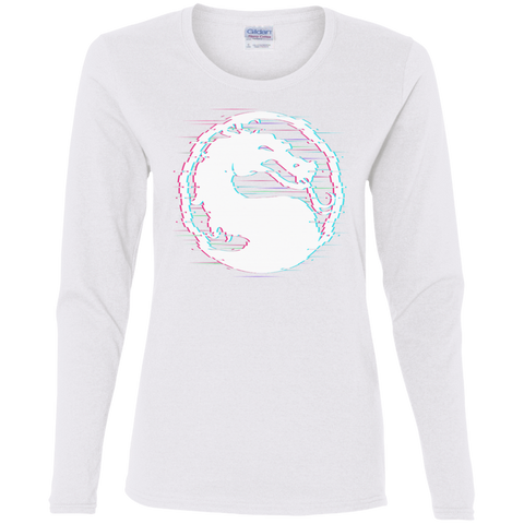 T-Shirts White / S Mortal Glitch Women's Long Sleeve T-Shirt