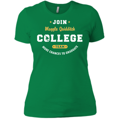 T-Shirts Kelly Green / X-Small Muggle Quidditch Women's Premium T-Shirt