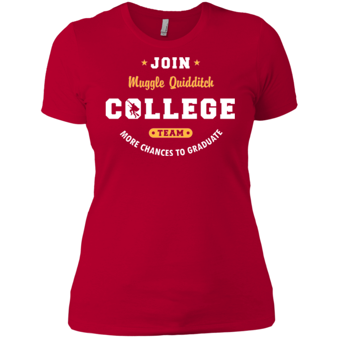 T-Shirts Red / X-Small Muggle Quidditch Women's Premium T-Shirt