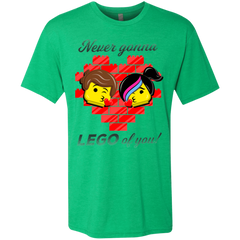 T-Shirts Envy / S Never LEGO of You Men's Triblend T-Shirt