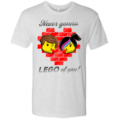 T-Shirts Heather White / S Never LEGO of You Men's Triblend T-Shirt