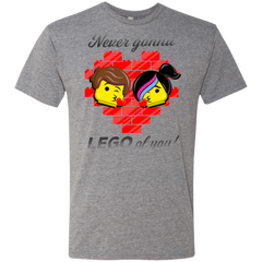 T-Shirts Premium Heather / S Never LEGO of You Men's Triblend T-Shirt