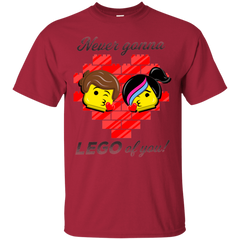 T-Shirts Cardinal / S Never LEGO of You T-Shirt