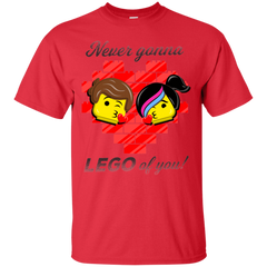 T-Shirts Red / S Never LEGO of You T-Shirt