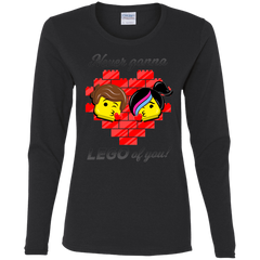 T-Shirts Black / S Never LEGO of You Women's Long Sleeve T-Shirt