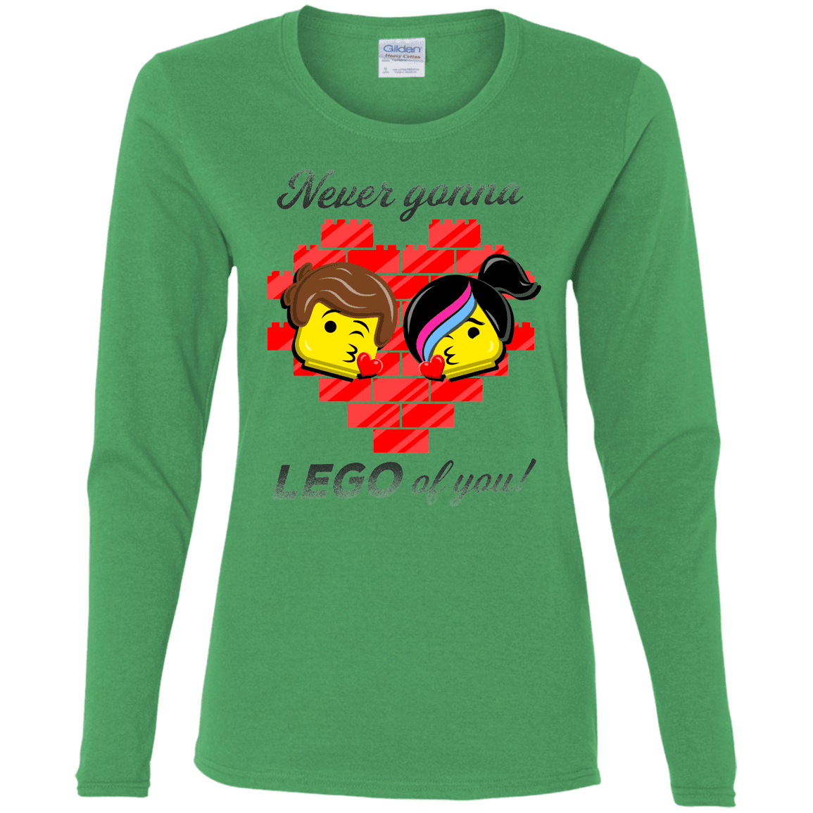 T-Shirts Irish Green / S Never LEGO of You Women's Long Sleeve T-Shirt