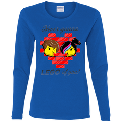T-Shirts Royal / S Never LEGO of You Women's Long Sleeve T-Shirt