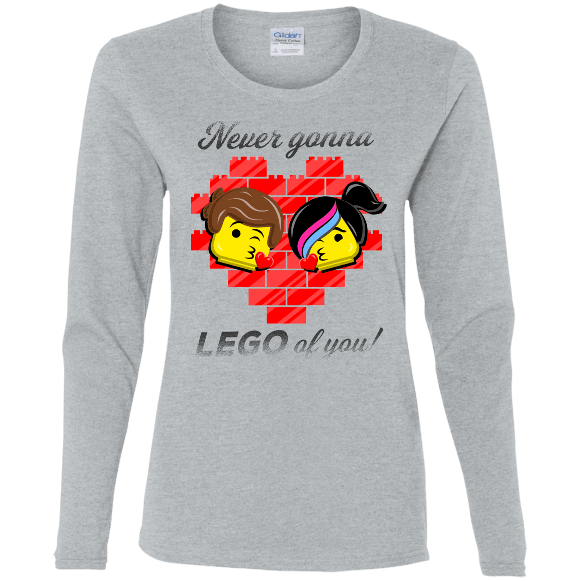 T-Shirts Sport Grey / S Never LEGO of You Women's Long Sleeve T-Shirt