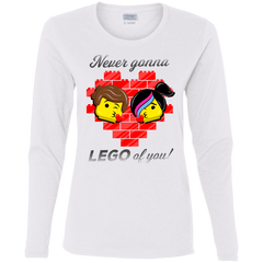 T-Shirts White / S Never LEGO of You Women's Long Sleeve T-Shirt