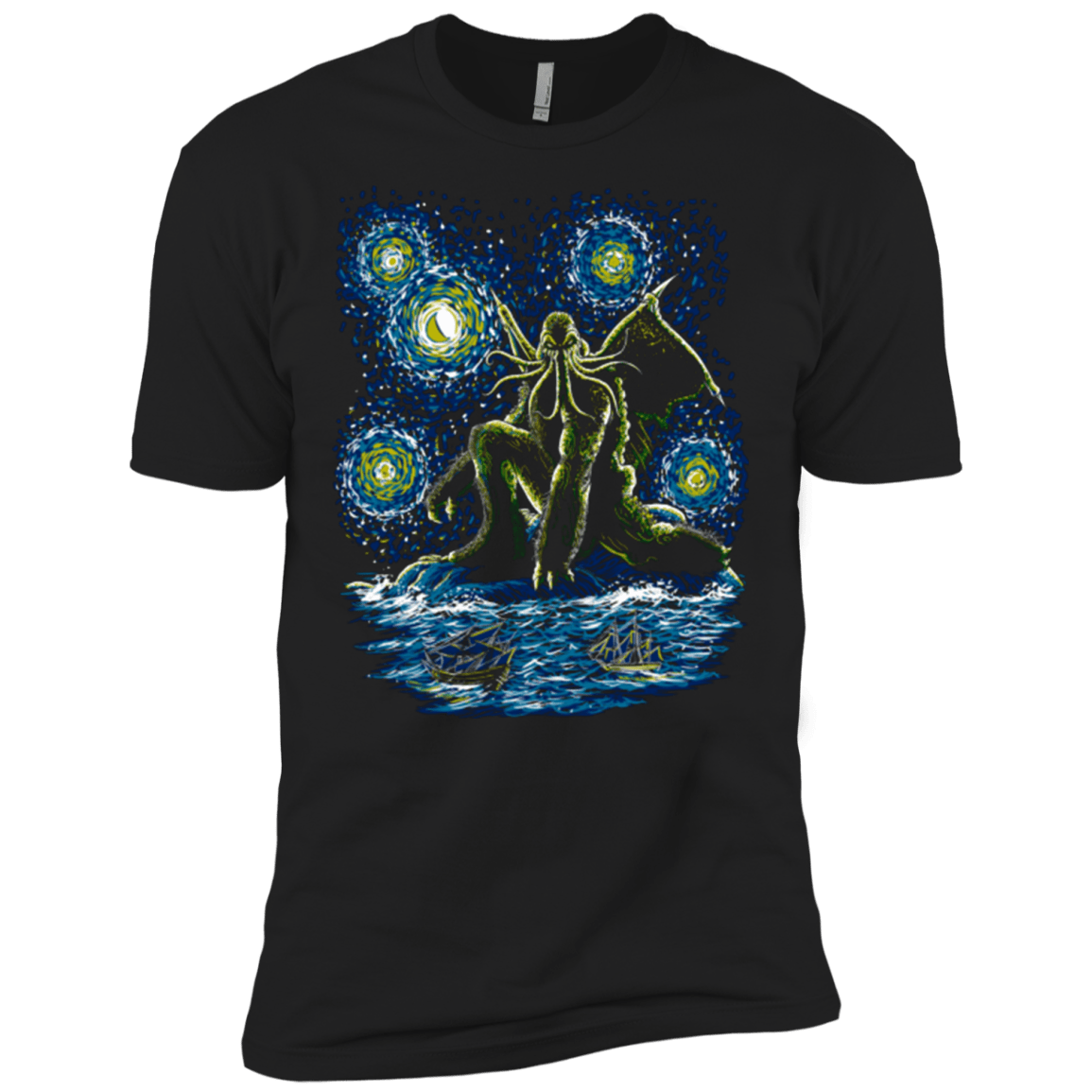 T-Shirts Black / X-Small Night of Cthulhu Men's Premium T-Shirt