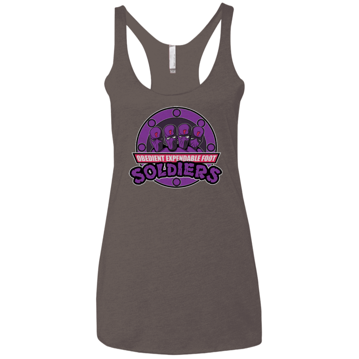 T-Shirts Macchiato / X-Small OBEDIENT EXPENDABLE FOOT SOLDIERS Women's Triblend Racerback Tank