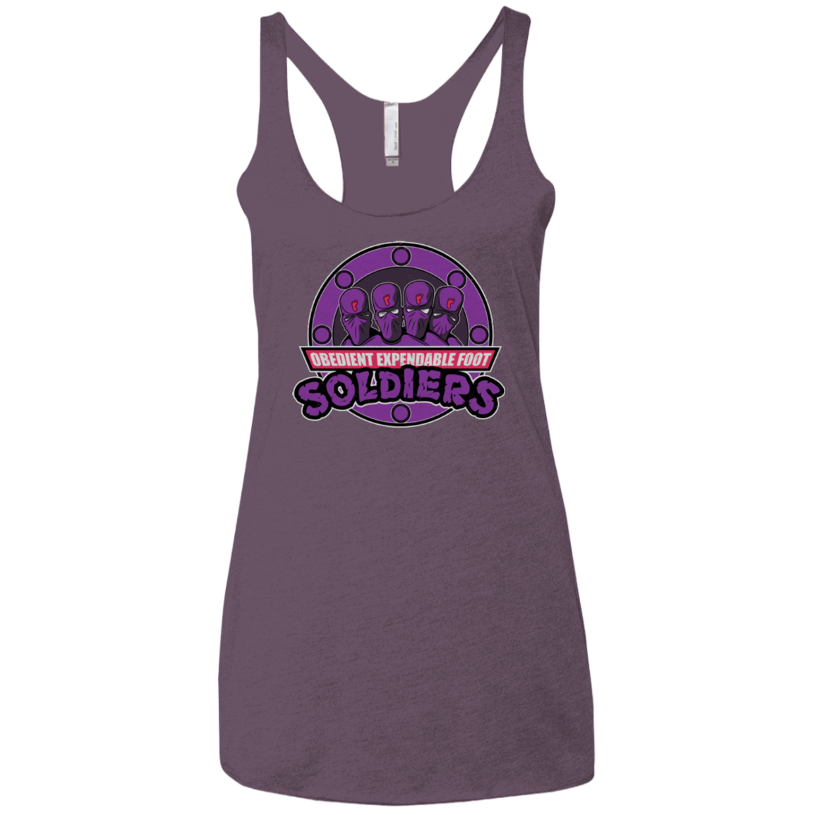 T-Shirts Vintage Purple / X-Small OBEDIENT EXPENDABLE FOOT SOLDIERS Women's Triblend Racerback Tank