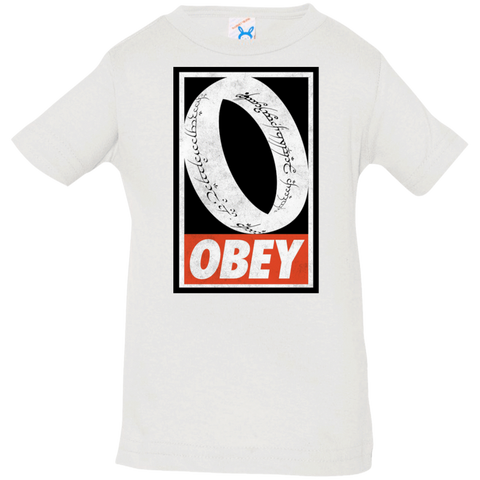 T-Shirts White / 6 Months Obey One Ring Infant Premium T-Shirt