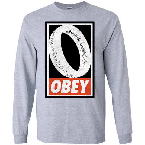 T-Shirts Sport Grey / S Obey One Ring Men's Long Sleeve T-Shirt