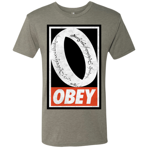 Obey One Ring Men's Triblend T-Shirt