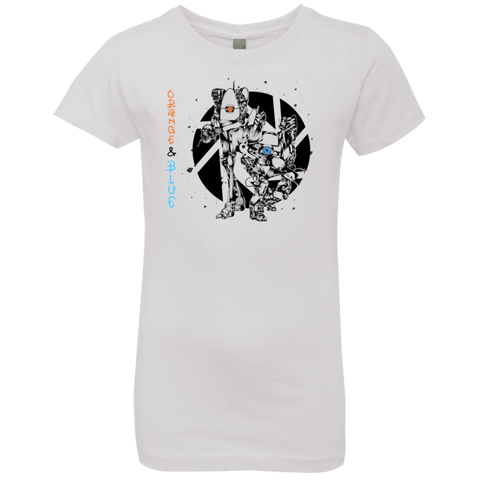 Orange and Blue Girls Premium T-Shirt