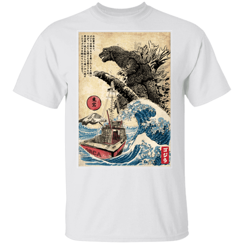 Orca in Japan Woodblock T-Shirt