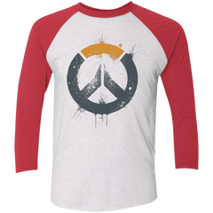 T-Shirts Heather White/Vintage Red / X-Small Overwatch Triblend 3/4 Sleeve