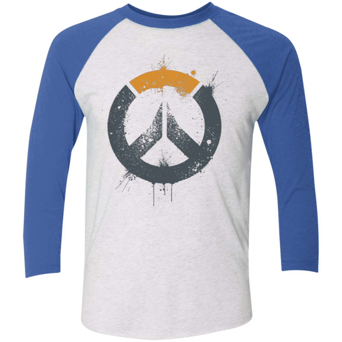 T-Shirts Heather White/Vintage Royal / X-Small Overwatch Triblend 3/4 Sleeve